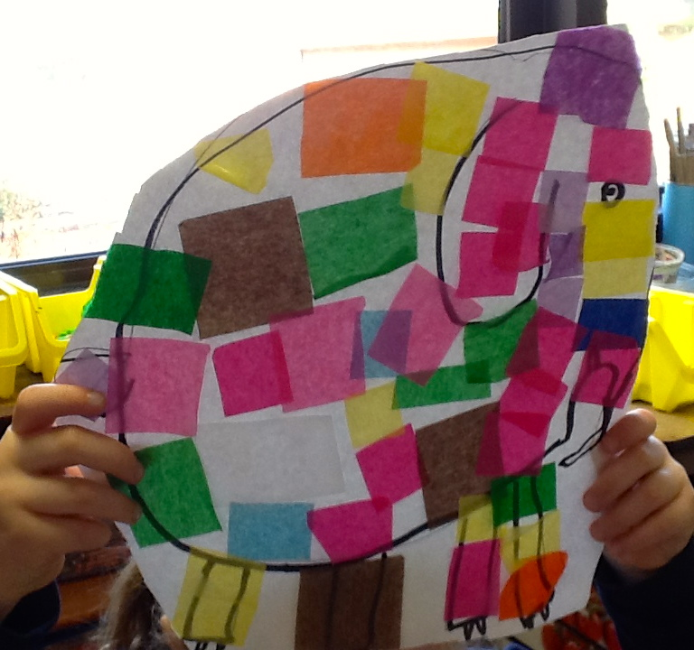 1st grade Elmer's - We read the book Elmer the Elephant and made a collage  elephant - Ms. Keller's Art Room